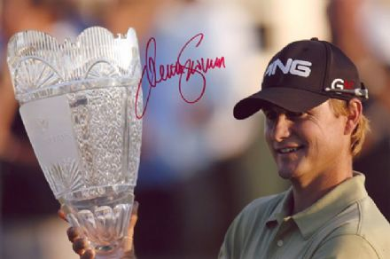 Heath Slocum, PGA Tour golfer, signed 12x8 inch photo.